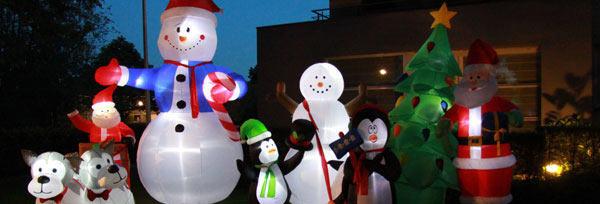 Kerst opblaasfiguren