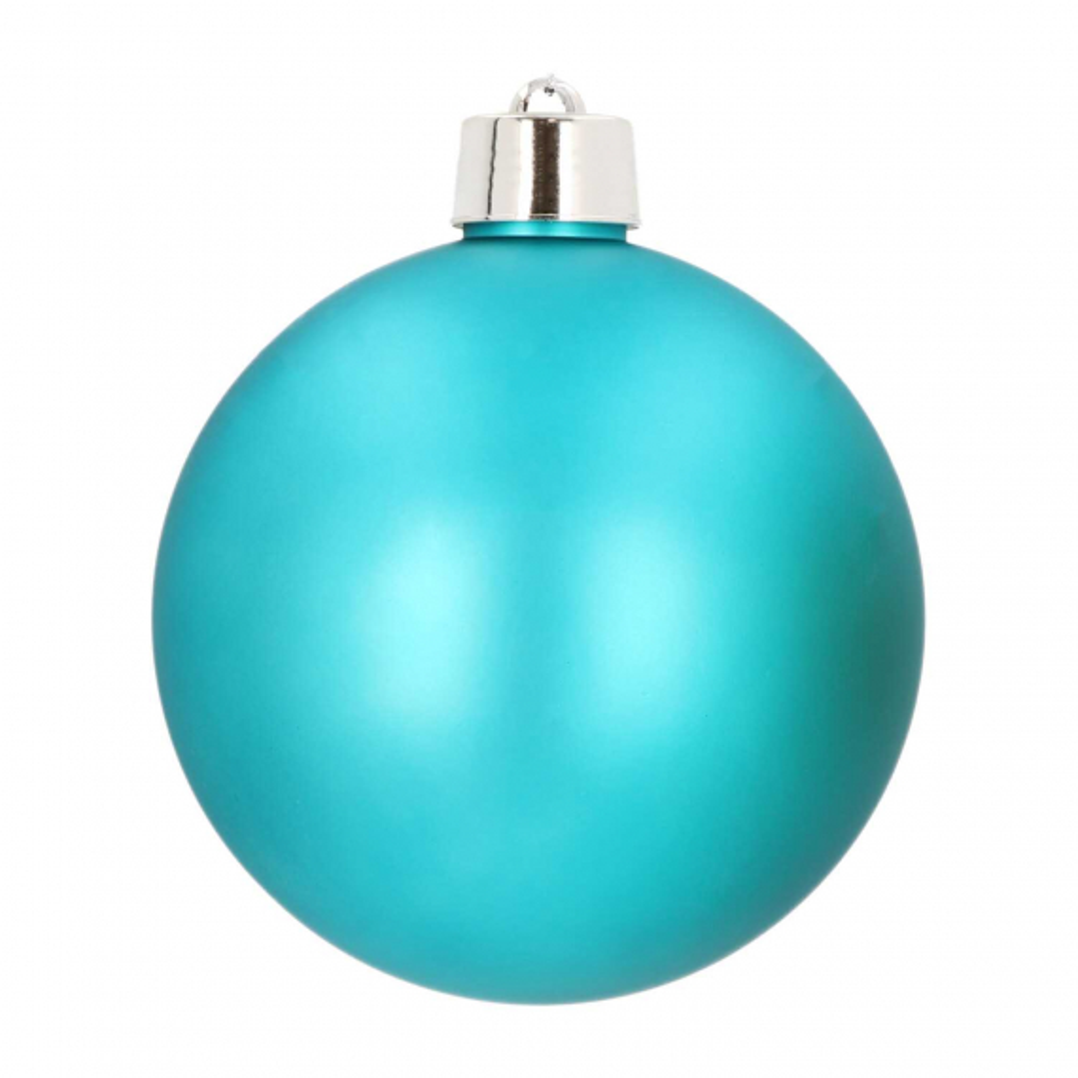 Kunststof XXL kerstbal 20 cm teal blauw mat