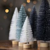 Kerstboompje wit 15 cm