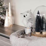 Kerstboompje zwart 25 cm