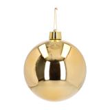 Kunststof XXXL kerstbal goud 25 cm