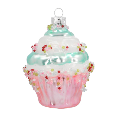 Luxe kersthanger cupcake 9cm