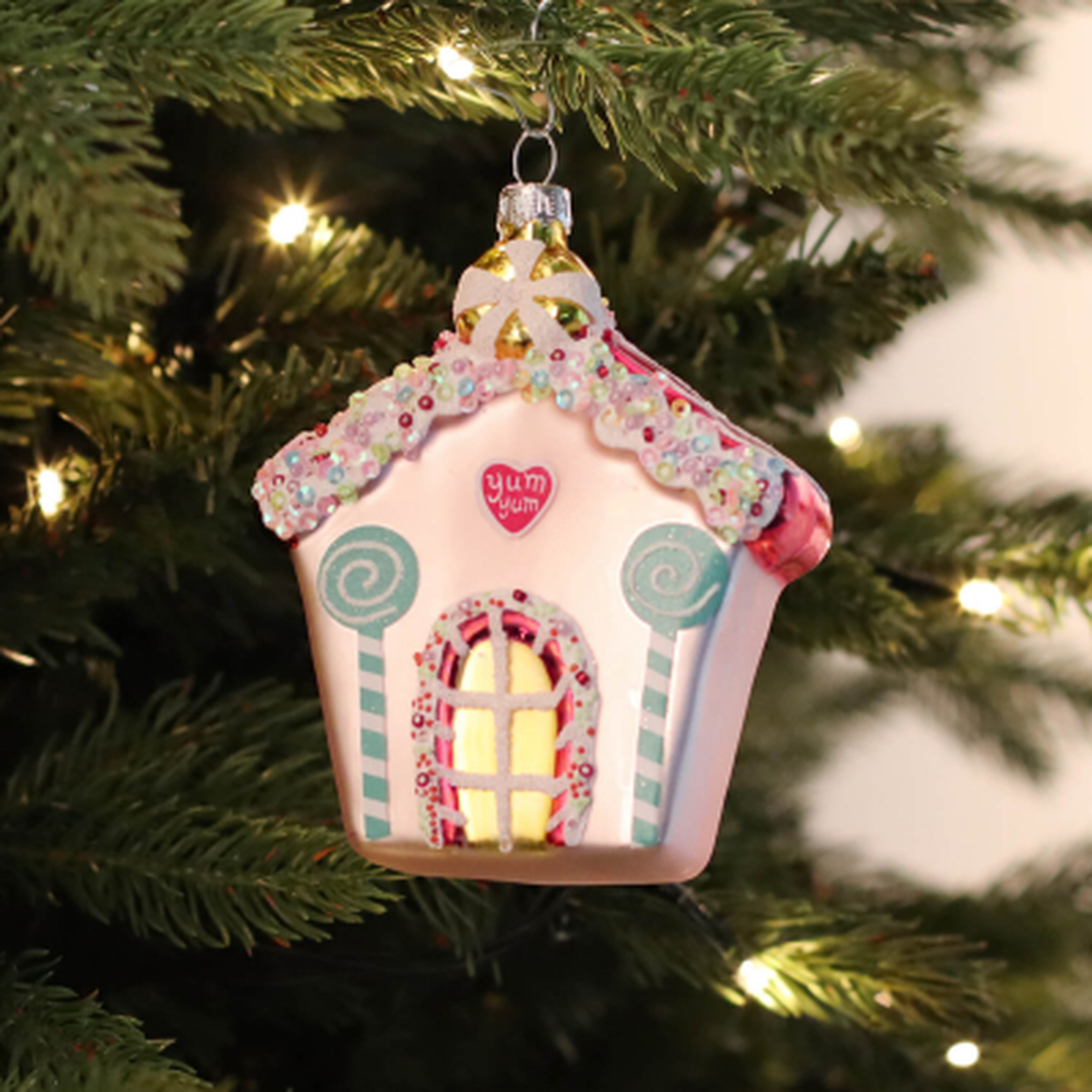 Luxe kersthanger koekhuisje 11cm