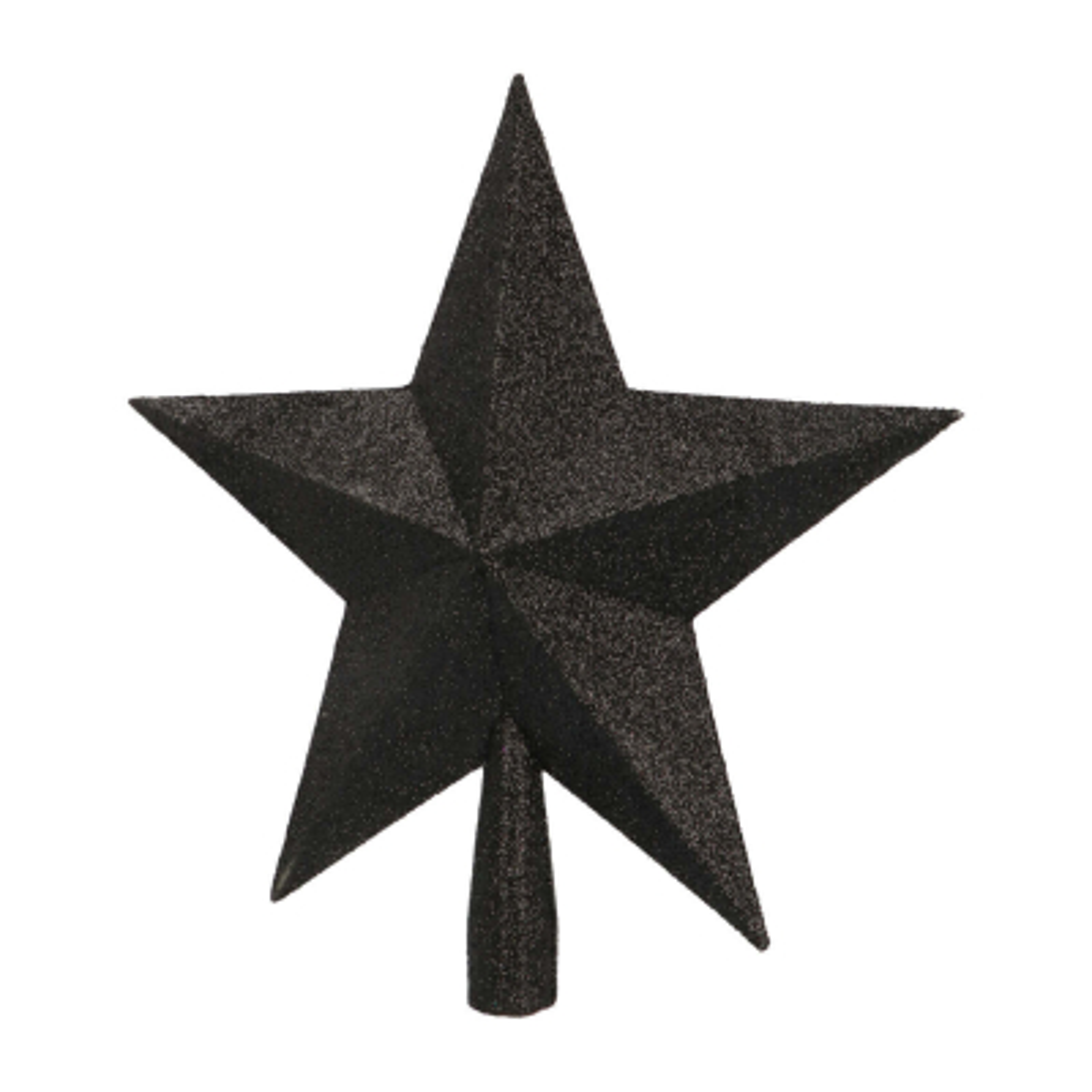 Glitter piek ster 22cm zwart