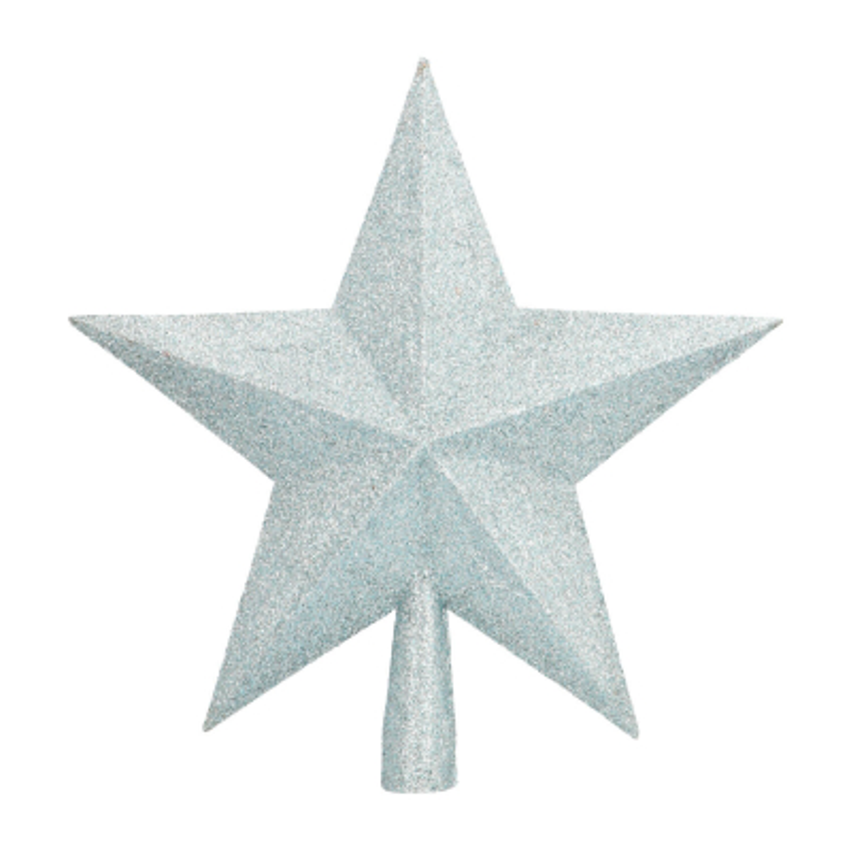 Glitter piek ster 22cm zachtblauw