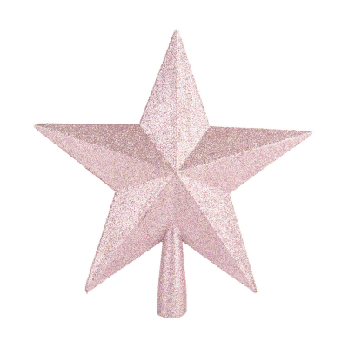 Glitter piek ster 20cm zachtroze