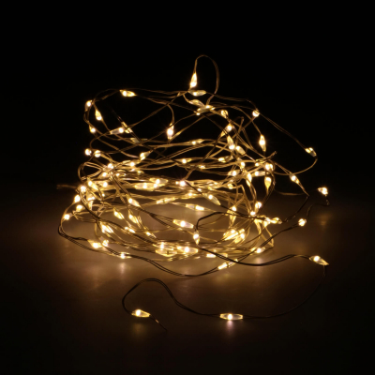 Zilverdraad verlichting 100 LED op batterij