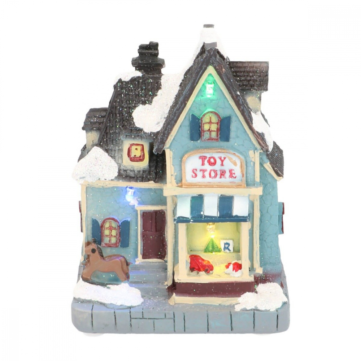 Kersthuisje Toy shop 13 cm LED
