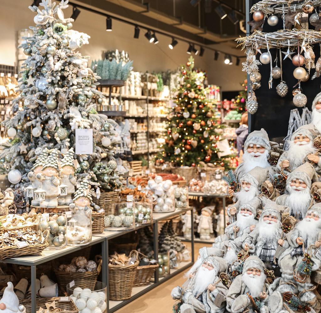 Kerstwinkel interieur